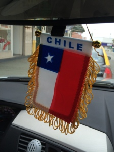 Proudly displaying my flag in my car