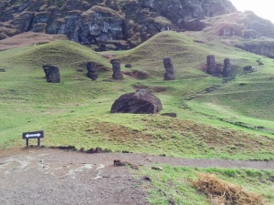 Driving into Rano Raraku